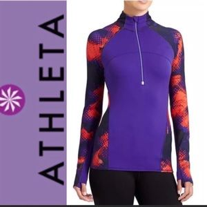 Athleta Running Wild long sleeved exercise top. XS